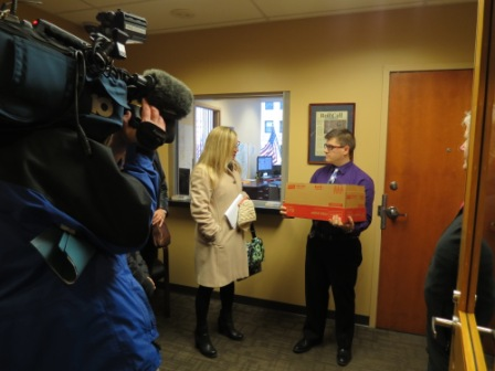 Franklin County Clerk of Courts Maryellen O'Shaughnessy at Portman's Columbus Office